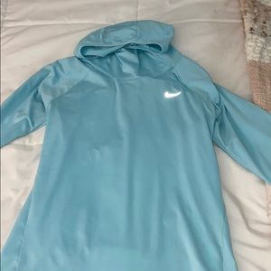 dri-fit baby blue NIKE athletic jacked